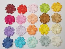 100 x 3.6 cm MULTI-COLOURS DAISIES Petals Mulberry Paper Flowers